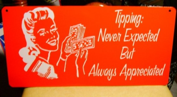 So, this is not correct. Tipping is required!